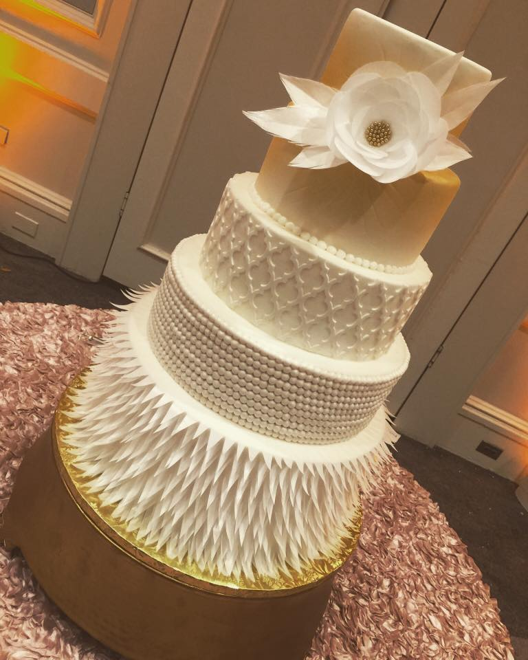 Beautiful wedding cakes by the baking grounds bakery caf see full gallery junglespirit Choice Image